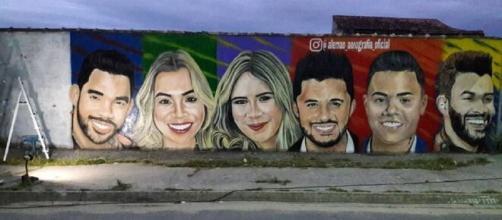 Artista pinta rosto de famosos. (Reprodução/Instagram)