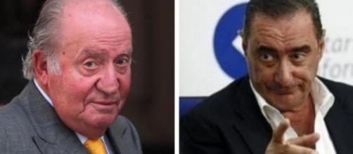 El rey emérito Juan Carlos y el periodista Carlos Herrera