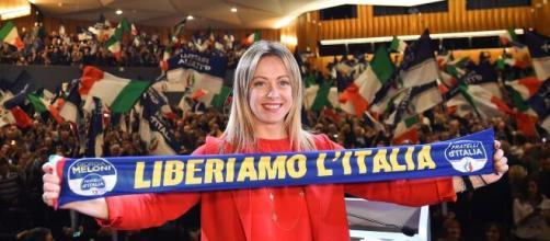 Giorgia Meloni, leader di Fratelli d'Italia.