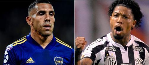 Boca Juniors e Santos fazem o primeiro jogo das semifinais da Libertadores. (Fotomontagem)