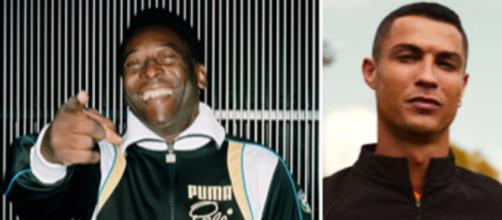 Pelé s'auto proclame 'meilleur buteur de tous les temps' - ©capture d'écran Instagram @pele/ Instagram @cristiano