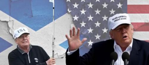 Donald Trump `may snub Joe Biden's inauguration for a trip to Scottish golf course.'[© Jessica Valetta YouTube video]