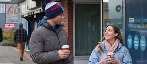 On location with Alexa PenaVega and Luke Macfarlane in 'Taking a Shot at Love' (©Hallmark Channel/YouTube Screencap)