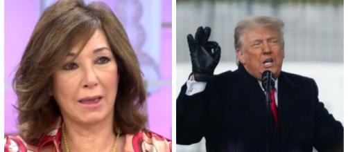 Ana Rosa Quintana y Donald Trump en imagen