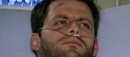 Cassiano acidentado em 'Flor do Caribe'. (Foto: Globo).
