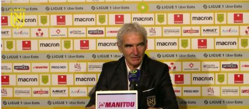 Raymond Domenech compare Jean Lucas à Maradona et se fait critiquer - © capture d'écran conférence de presse Domenech Twitch FC Nantes