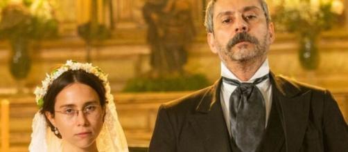 Dolores e Tonico em 'Nos Tempos do Imperador' (Reprodução/TV Globo)