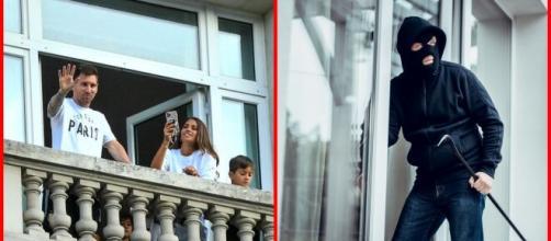 L'hôtel où réside Lionel Messi cambriolé, un cauchemar pour le PSG (capture YouTube et montage photo)