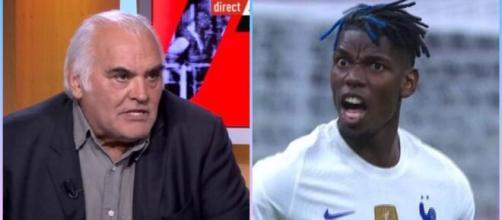 Gilles Favard ironise sur Pogba et se fait détruire par les internautes (capture YouTube et montage photo)