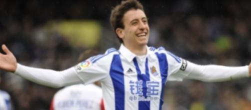 Mikel Oyarzabal, punta del Real Sociedad.