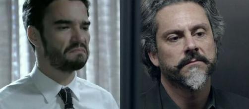Pedro e Zé em 'Império' (Fotomontagem/Reprodução/TV Globo)