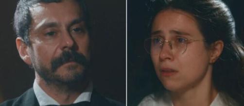 Tonico e Dolores em 'Nos Tempos do Imperador' (Fotomontagem/Reprodução/TV Globo)