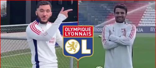 Rayane Cherki trolle Léo Dubois et enflamme la toile (capture YouTube et montage photo)