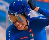 Elisa Balsamo, una delle punte dell'Italia ai Mondiali di ciclismo su pista.