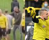 Haaland a régalé un fan du Borussia Dortmund. (Crédit Twitter)