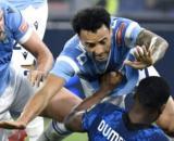 Lo scontro fra Anderson e Dumfries in Lazio-Inter.