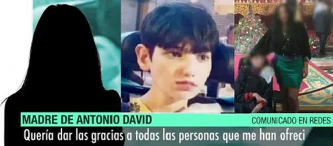 La madre del menor desaparecido se pronuncia: reconoce que su hijo 'murió en sus brazos'
