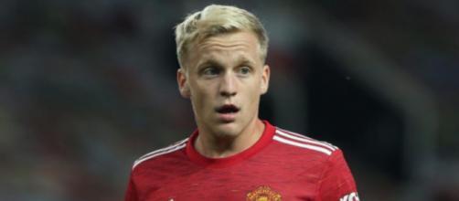 Donny Van de Beek, centrocampista del Manchester United.