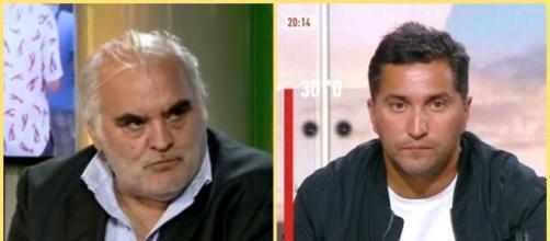 Échange tendu sur Twitter entre Nabil Djellit et Gilles Favard (capture YouTube et montage photo)