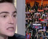 Bertrand Latour dézingue les supporters du PSG, il se fait insulter sur Twitter (capture YouTube et montage photo)