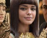 Merianat, kamesha e José em 'Gênesis' (Fotomontagem/Reprodução/Record TV)