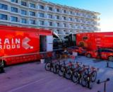 biciclette e team della Bahrain Victorius. (Instagram Bahrain Victorius).