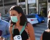 Los reporteros preguntaron a Olga Moreno por la noticia de su ruptura (La Sexta)