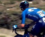 Miguel Angel Lopez alla Vuelta Espana, ultima corsa in maglia Movistar.