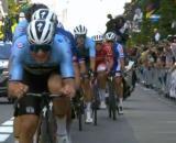Remco Evenepoel impegnato ai Mondiali di ciclismo.