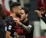 Giroud a segno nel gol vittoria. Milan - Torino 1 - 0