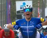 Davide Ballerini vincitore della Het Nieuwsblad.