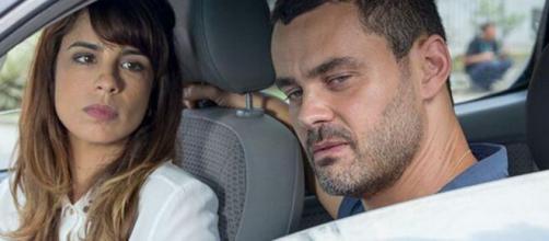 Danielle e Maurílio em 'Império' (Reprodução/TV Globo)