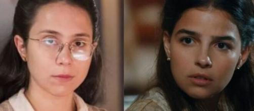 Dolores e Pilar em 'Nos Tempos do Imperador'. (Fotomontagem)