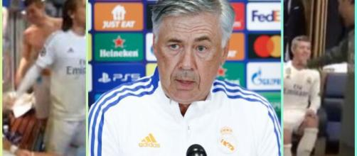Le fils de Carlo Ancelotti au cœur des tensions dans le vestiaire du Real Madrid (capture YouTube et montage photo)