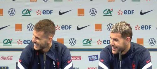 Les deux frères Hernandez en équipe de France. (crédit Twitter équipe de France)