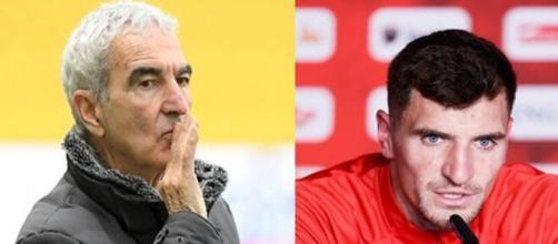 Raymond Domenech balance sur Thomas Meunier au PSG (capture YouTube et montage photo)