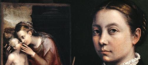 Sofonisba Anguissola's self-portrait (Image source: Wikimedia Commons)