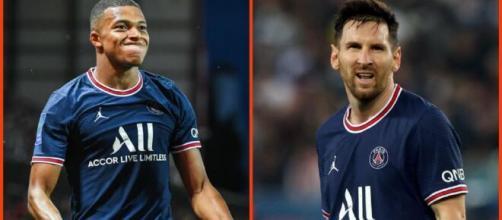 La guerre est déclarée entre Lionel Messi et Kylian Mbappé (capture Youtube et montage photo)