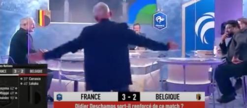 Olivier Rouyer énervé par la remarque d'Etienne Moatti. (Crédit L'Equipe Du Soir)