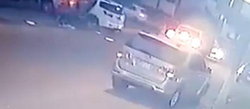 Vídeo mostra momento em que bandidos disparam contra filha de governador paraguaio e outras 3 pessoas (Reprodução)