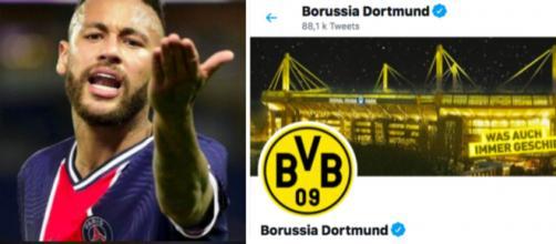 Neymar répond au Borussia Dortmund sur Twitter - © montage captures d'écran