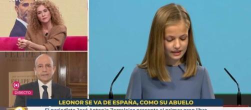 En la imagen, el rótulo de la polémica que emitió TVE durante 'La Hora de La 1'