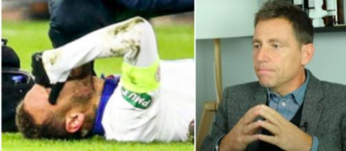 Daniel Riolo dézingue Neymar après sa blessure - © capture d'écran Video Youtube et photo instagram
