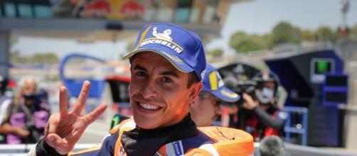 Marc Marquez pronto a tornare in pista con la sua Honda.
