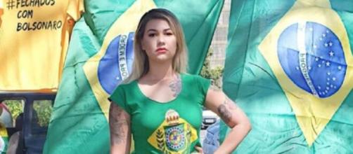 Sara Winter diz que não chamará mais Bolsonaro de mito. (Arquivo Blasting News)