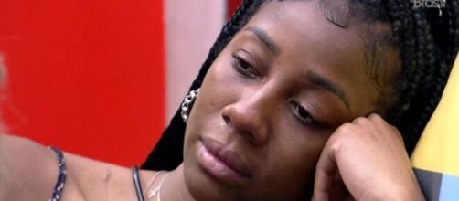 Camila chorou após brigas no 'BBB21'. (Reprodução/TV Globo)