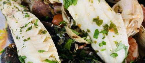 La zuppa di pesce con Tracine e pesce povero.