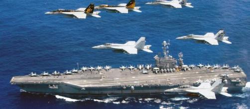 Simulación de ataques de China y Estados unidos en el mar de China