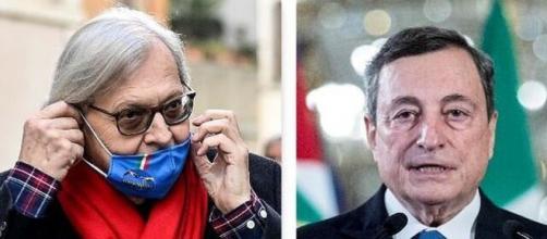 Vittorio Sgarbi boccia la lista dei ministri del governo Draghi.