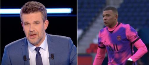 PSG: Hervé Mathoux détruit le 'maillot mandarin'.©photo montage capture vidéo Canal Plus
